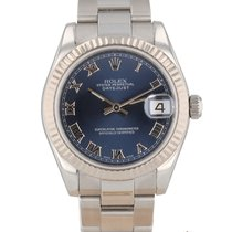 Rolex Lady-Datejust Acier 31mm Bleu Romains