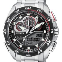Citizen Steel 50mm Quartz JW0124-53E CITIZEN PROMASTER Crono Millesimo.50mm.Acciaio. new