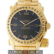 Breitling Emergency Yellow gold 43mm Blue Arabic numerals United States of America, New York, New York
