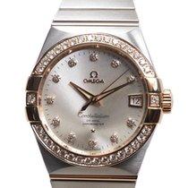 歐米茄 Constellation 18k Rose Magic Diamond Silver Automatic...