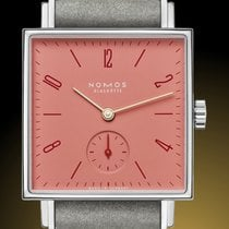 NOMOS Tetra Steel 29,5mm Red No numerals