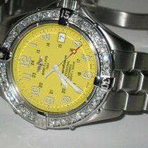 Breitling Steel Automatic Yellow Arabic numerals 42mm pre-owned Superocean