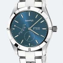 Eberhard & Co. 8 Jours Acciaio 41mm Blu Italia, l'aquila
