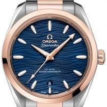 Omega Seamaster Aqua Terra Goud/Staal 38mm Blauw