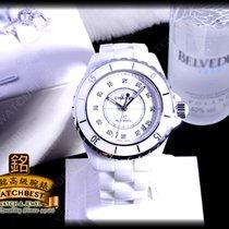 Chanel occasion Remontage automatique 38mm Blanc Verre saphir 20 ATM