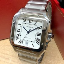 Cartier Santos (submodel) Steel 39.8mm Silver Roman numerals United Kingdom, Wilmslow