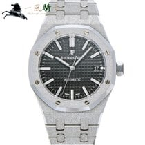 Audemars Piguet Witgoud Automatisch Zwart 37mm tweedehands Royal Oak Lady