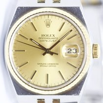 Rolex Datejust Oysterquartz Золото/Cталь 36mm Золотой Без цифр
