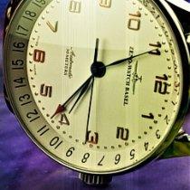 Zeno-Watch Basel nuevo Automático Tapa transparente Segundero central Agujas de acero azulado Estado original/piezas originales 44mm Acero Cristal de zafiro