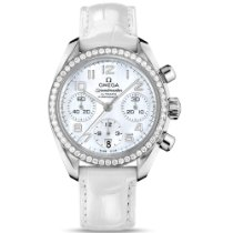 Omega Speedmaster Ladies Chronograph Steel 38mm Mother of pearl No numerals