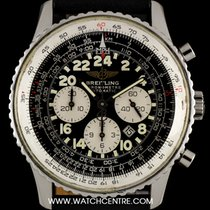 Breitling S/S Black 24 Hour Dial Cosmonaute Navitimer Gents...