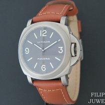 Panerai Luminor Base tweedehands 44mm Bruin Runderleer