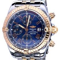 Breitling Chronomat Evolution Gold Steel Blue Roman Dial 44 mm...