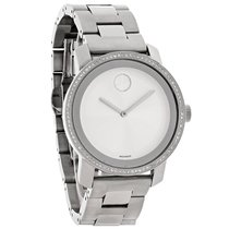 Movado Bold Series Ladies Diamond Bezel Swiss Quartz Watch...