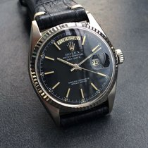 Rolex Day Date 1803 Solid 18k White Gold Black Dial 1960's