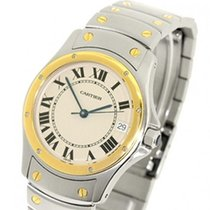 Cartier Santos (submodel) Gold/Steel 32mm White Roman numerals
