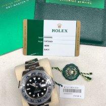 Rolex GMT-Master II Сталь 40mm Чёрный Без цифр