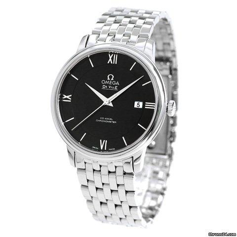 promo code f1c0e 39c76 Omega オメガ デビル プレステージ 39.5mm 自動巻き ブラック 424.10.40.20.01.001 OMEGA メンズ 腕時計 時計