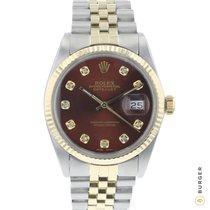 Rolex 16013 Zlato/Zeljezo 1982 Datejust 36mm rabljen