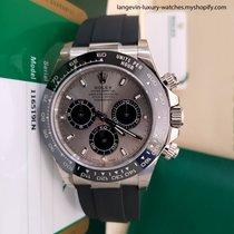 Rolex White gold Automatic Silver No numerals 40mm new Daytona