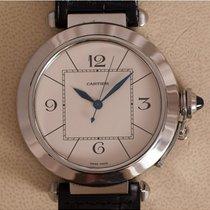 Cartier Pasha Acero 42mm Blanco Arábigos