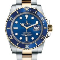 Rolex Submariner Date new 2019 Automatic Watch with original box and original papers Rolex Submariner with Date Blue dial 116613LB