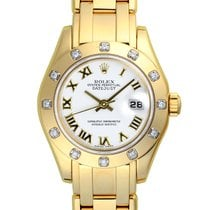 Rolex Lady-Datejust Pearlmaster 18K Solid Gold Automatic Diamonds