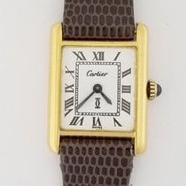 Cartier Tank Vermeil Silver & Gold Plated Manual Wind Watch
