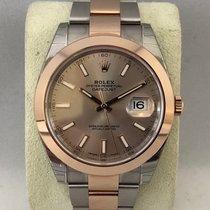 Rolex Datejust steel/pink gold 126301 Sundust dial