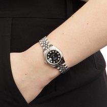 Rolex Lady-Datejust tweedehands 26mm Zwart Staal