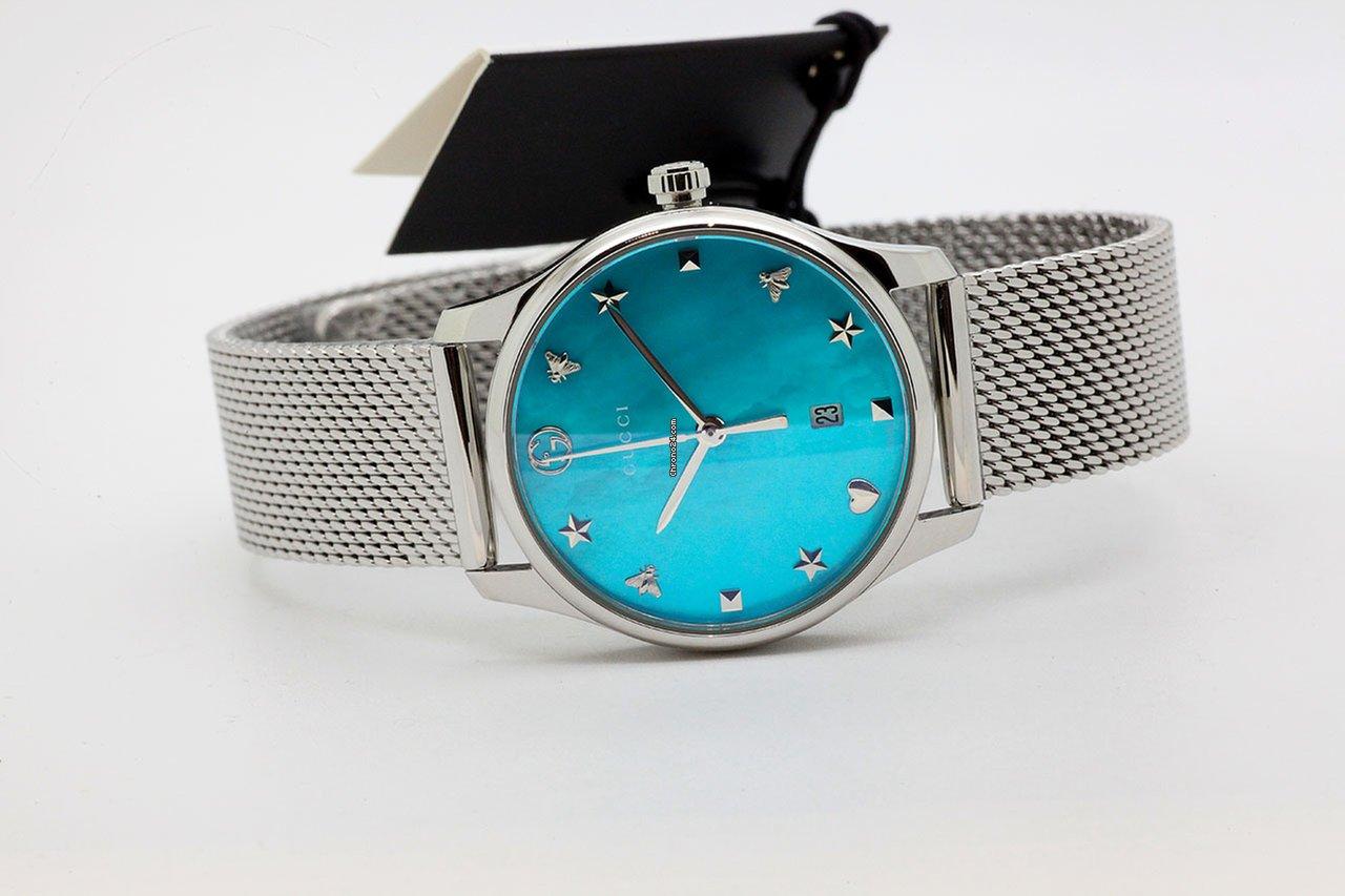 9794fc29a21 Gucci G-Timeless 38mm Quartz YA126582 G säljes av en Trusted Seller på  Chrono24 för 7 832 kr