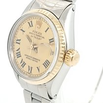 Rolex Oyster Perpetual Lady Date Acero y oro Champán Sin cifras