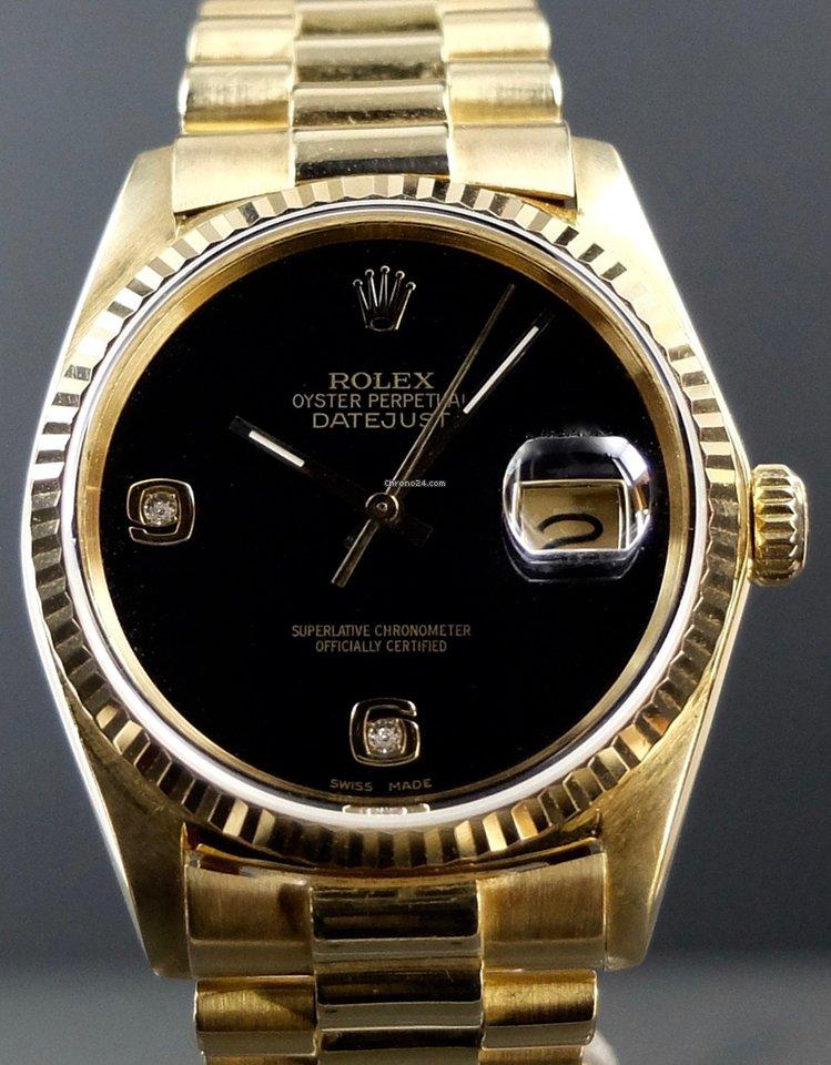 5228c9bbeb8a7 Rolex Datejust Or jaune   Acheter et comparer une montre Rolex Datejust Or jaune  sur Chrono24