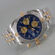 Breitling Chronomat Evolution Acero y oro 44mm Azul Sin cifras