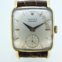 Rolex Yellow gold Manual winding Champagne No numerals 26mm pre-owned Oyster Precision