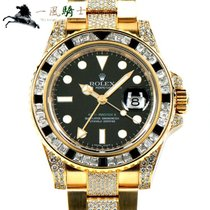 Rolex 116758SANR Or jaune 2007 GMT-Master II 40mm occasion