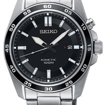 Seiko Kinetic Steel 42mm Black