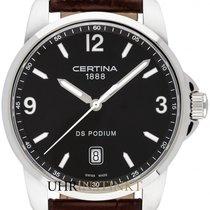 Certina Acier 38mm Quartz C001.410.16.057.00 nouveau
