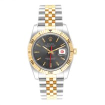 Rolex Datejust Turn-O-Graph neu 2005 Automatik Uhr mit Original-Box 116263