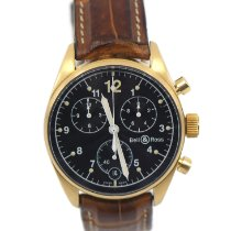 Bell & Ross Yellow gold Quartz Black 38mm pre-owned Vintage