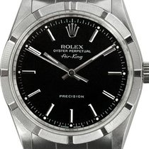 Rolex Air King Precision Steel 34mm Black