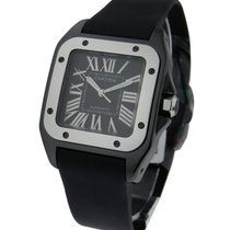 Cartier W2020008 Santos 100 32mm in ADLC Coated Steel - on...