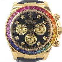 Rolex Daytona Rainbow Aftermarket 18K Gold Box/Papers 116518