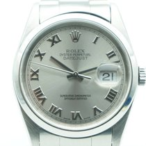 Rolex Datejust 34mm Stainless Steel Oyster Roman Numeral
