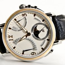 Maurice Lacroix Masterpiece Retrograde Phase Lune Gold/SS MRSP...