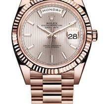 Rolex Red gold Automatic Pink No numerals 40mm new Day-Date 40