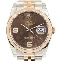 勞力士 Datejust 18k Rose Gold And Steel Dark Brown Automatic...