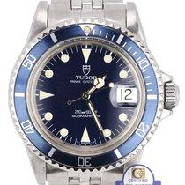 Tudor 1989 Vintage  Submariner Matte Blue 79090 Prince Date...
