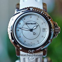 Montblanc Ladies Sport Auto Date Mother of Pearl Dial