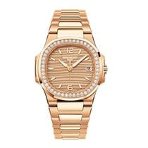 Patek Philippe Nautilus Or Rose Cadran Or Lunette Diamants